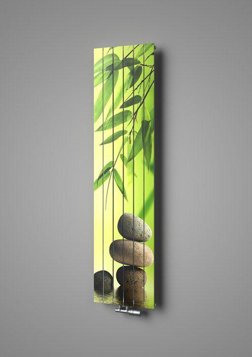 Designer radiator Collom with printed motif