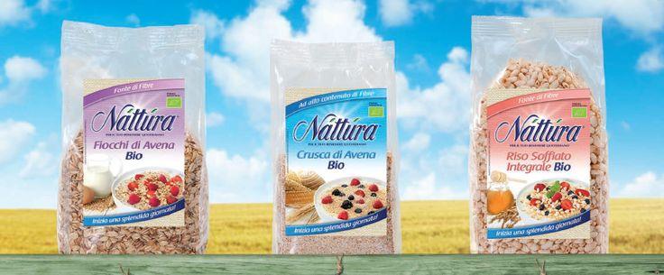Fiocchi di #avena, #crusca d'avena, riso soffiato: #colazione biologica e ad alto contenuto di fibre!