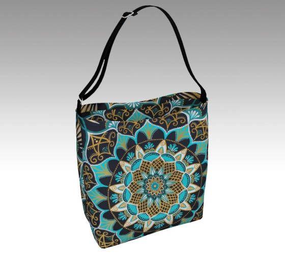 celestial splendor tote bag - mandala bag - boho tote - bohemian purse - mandala - wearable art - festival bag - psychedelic tote bag