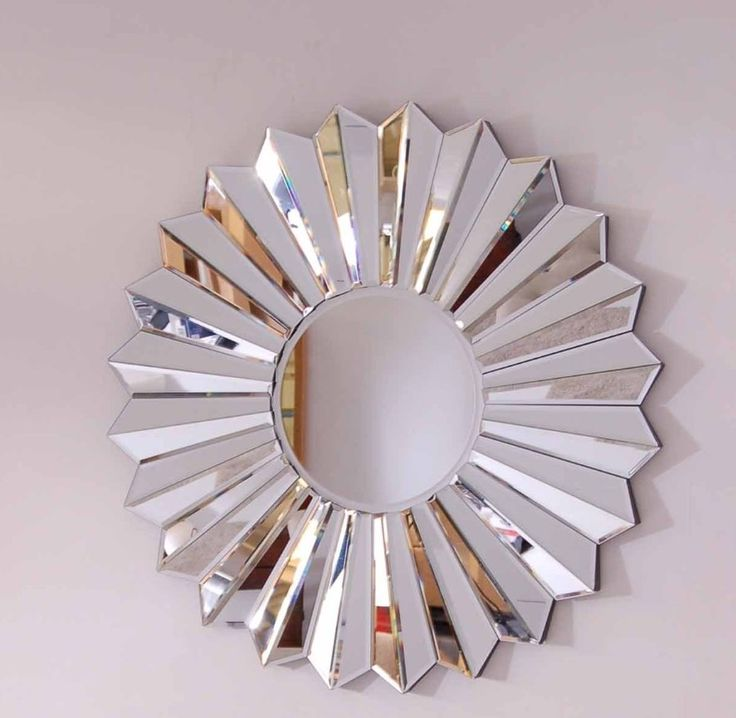 Exciting Decorative Pleat Etched Glass Round Wall Mirror With Modern Frame Also Mirrors For Living Room