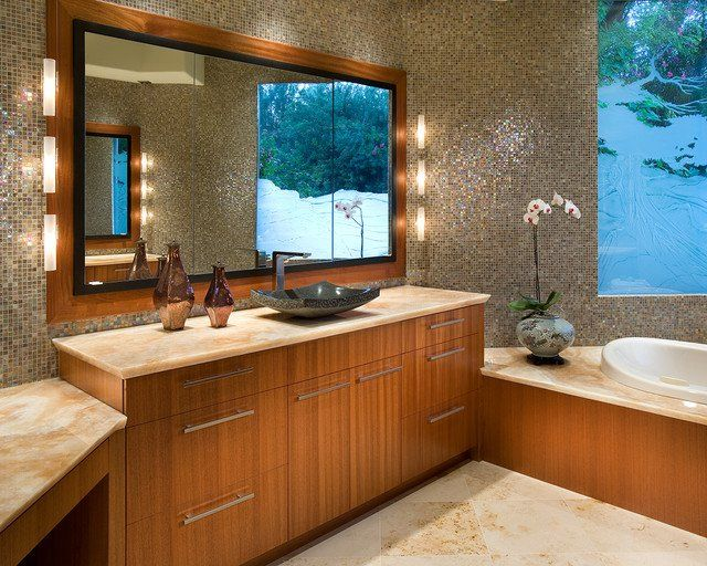 Exotic Asian Bathroom Decor With Asian Style Vanity - Amidug.com