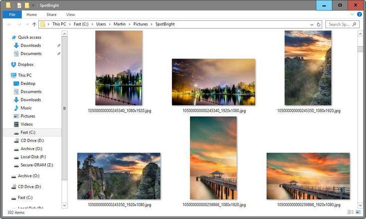 Cara download semua gambar di Windows Spotlight