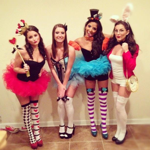 "Alice in wonderland group costume ***MORE LIKE ALICE IN ""HOOKERLAND"" COSTUMES! lol"