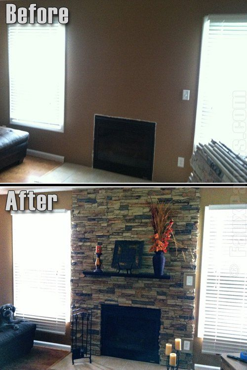 Faux stone fireplaces such as this one, can truly enhance the look and feel of the room.