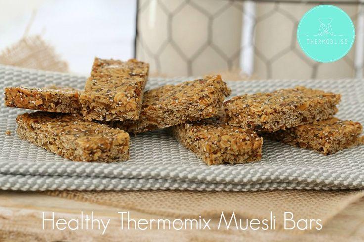 Healthy Thermomix Muesli Bars - BakePlaySmile