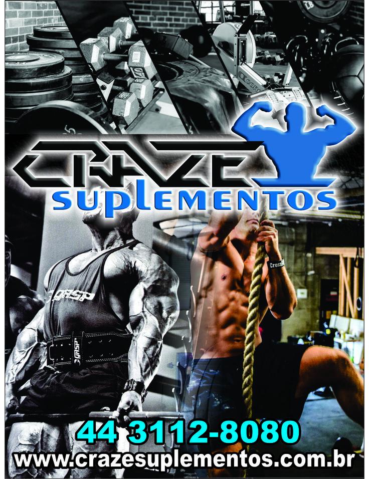 Visite nossa loja www.crazesuplementos.com.br