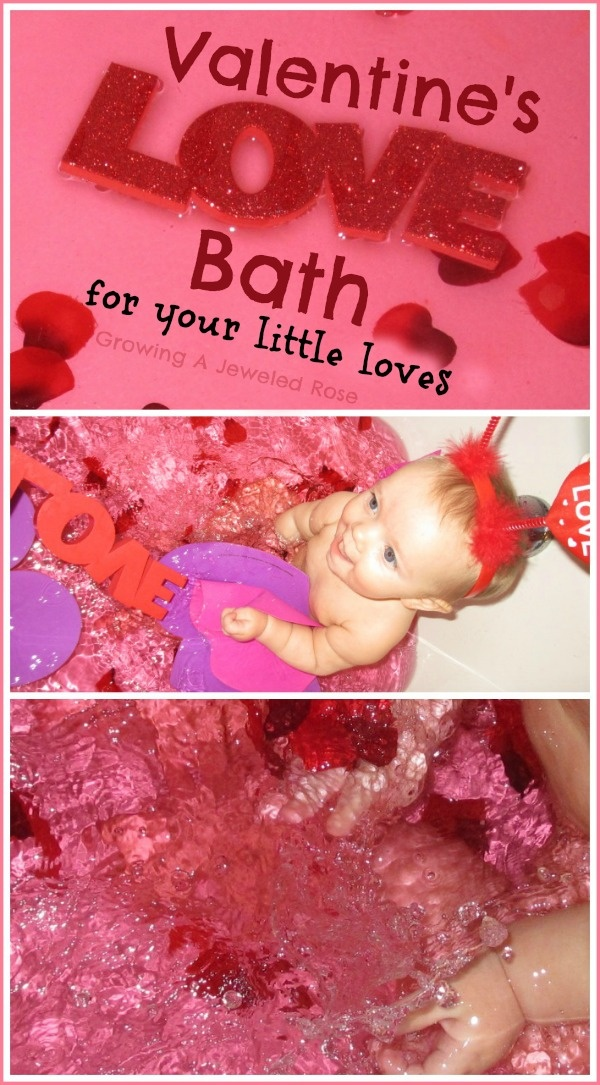 Let your little ones splash around in a Love themed bath this Valentine's Day- Simple, sweet fun!
