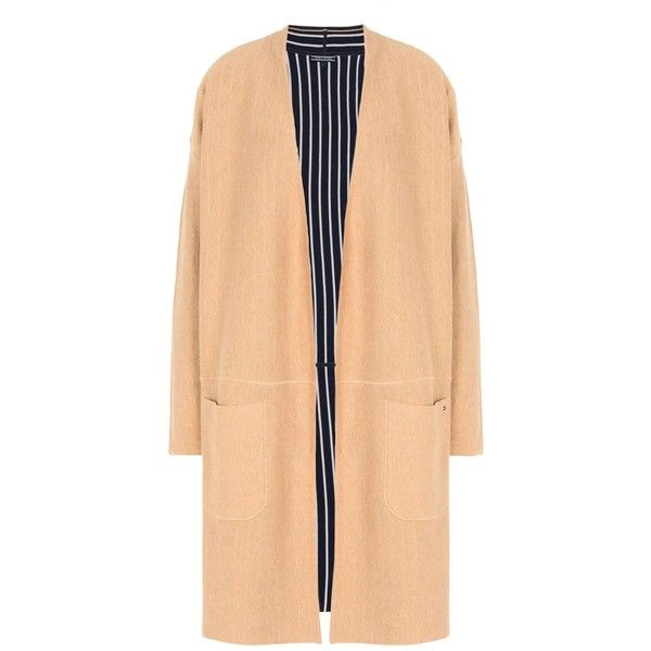Tommy Hilfiger Cardigan (1.505 HRK) ❤ liked on Polyvore featuring tops, cardigans, sand, lightweight beige cardigan, long sleeve tops, beige long sleeve top, tommy hilfiger and tommy hilfiger cardigan