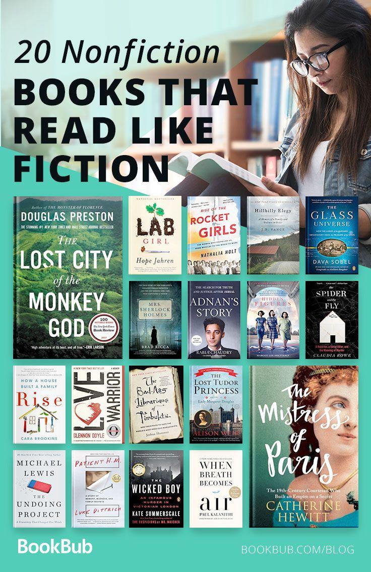 20 Must Read Nonfiction Books For Fans Of Fiction Book Club Books Nonfiction Books Books To Read