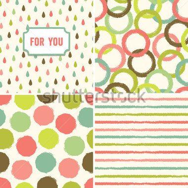 Fondo transparente inconformista en verde y rosa durazno. Bueno para Baby Shower, boda, tarjetas de felicitación, scrapbook, giftwrap, texturas superficiales. Ver mi folio para otros colores y para las versiones JPEG.