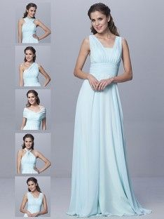 6-way Convertible Dress; Color: Mint Green; Sizes Available: 2-26W, Custom Size; Fabric: Chiffon