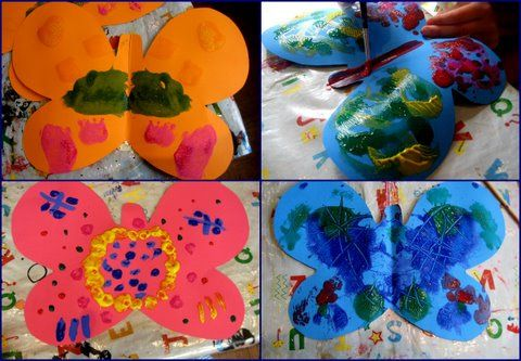 The Very Hungry Caterpillar craft ideas: butterflies from NurtureStore