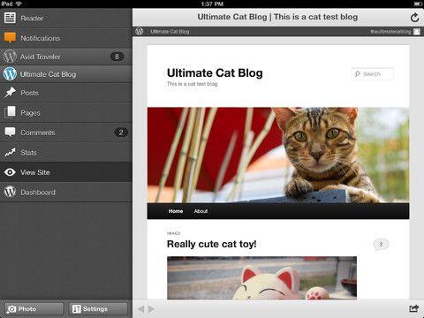 La aplicación de Wordpress para iPhone y iPad se actualiza a la versión 3.6