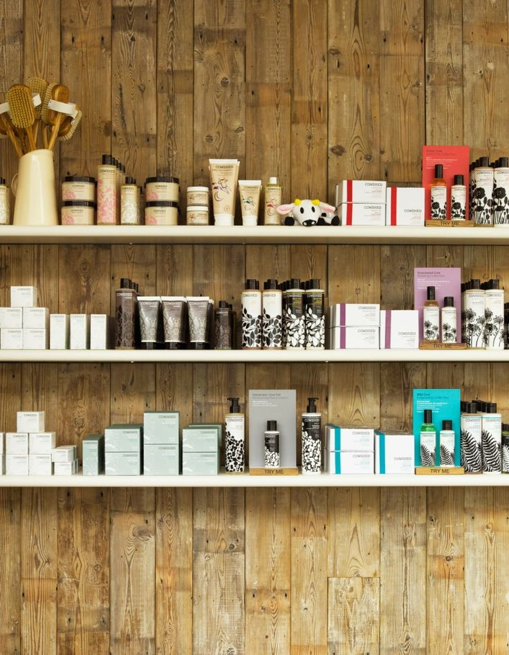 Shoreditch Design Rooms: Product Display - Cowshed Shoreditch