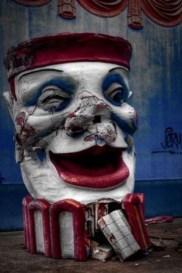 just creepy...http://ominousplaces.tumblr.com/post/6695085907/clown-statue-photo-by-lostlosangeles