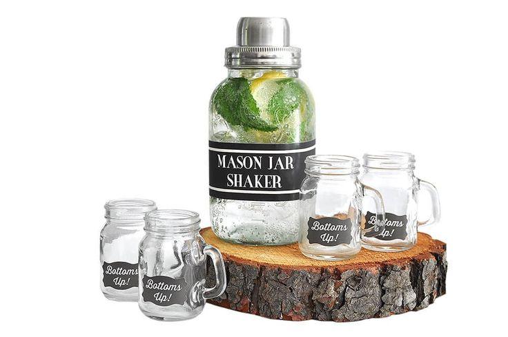 Glass - Mason Jar Shaker and Shot