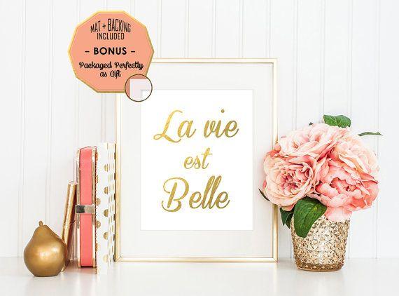 Inspirada en 'La Vie Est Belle' arte  impresión de la