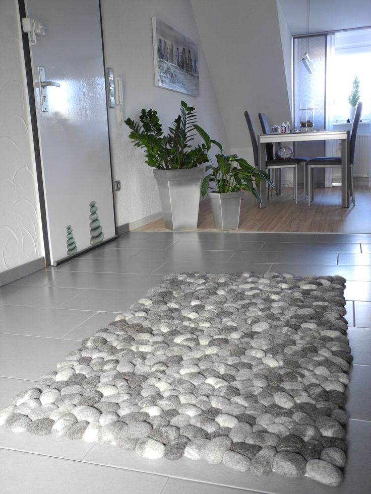 Felt stone rug supersoft pebbles gray by flussdesign on Etsy https://www.etsy.com/listing/211489447/felt-stone-rug-supersoft-pebbles-gray