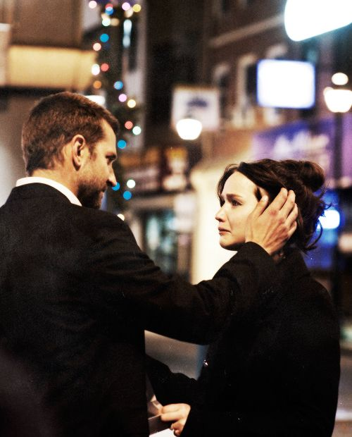 Bradley Cooper y Jennifer Lawrence en Silver Linings Playbook
