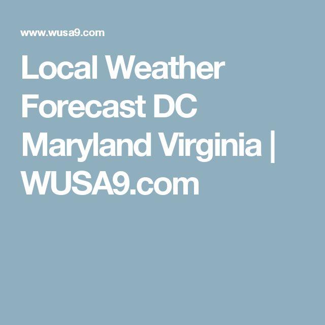 Local Weather Forecast DC Maryland Virginia | WUSA9.com