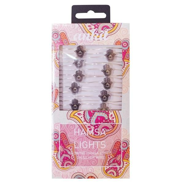 Hamsa String Lights,String Lights, Super Bright Warm Yellow Color Wire Rope Lights Battery Operated