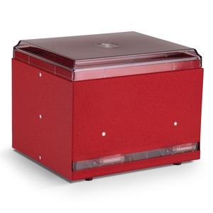 Vollrath 380202 Straw Boss Double Sided Bulk Straw Dispenser - Red