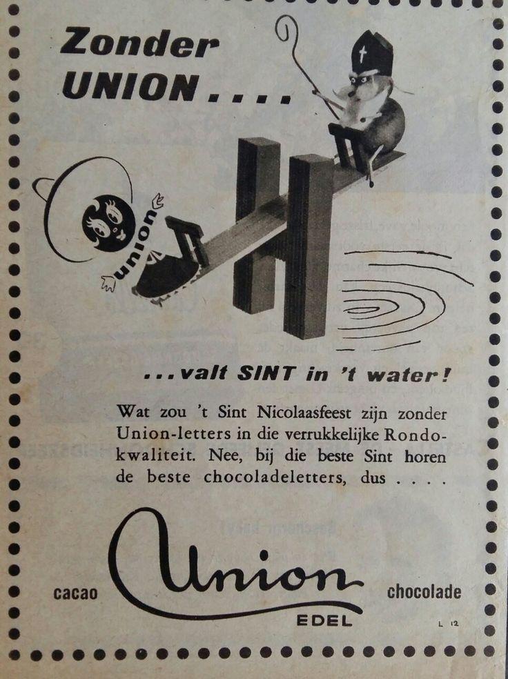 UNION chocoladeletter advertentie  (Sinterklaas)
