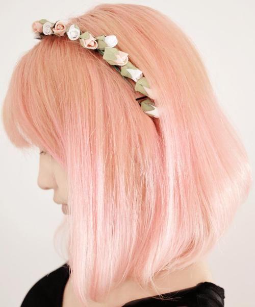 Pretty pink bob. #hair #beauty