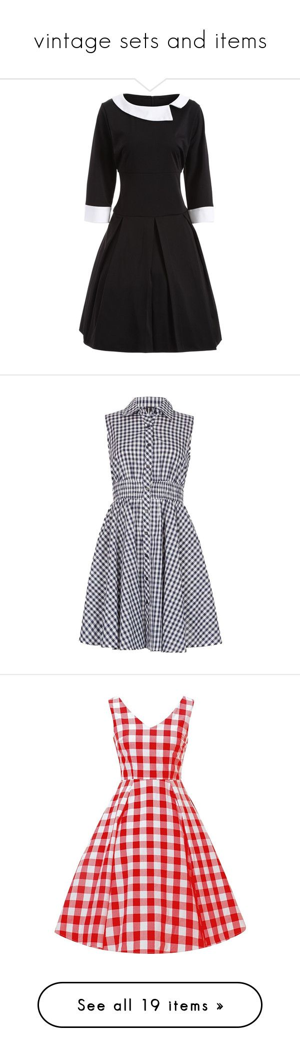 """""""vintage sets and items"""" by elliebean16 ❤ liked on Polyvore featuring Chanel, Bill Blass, vintage, dresses, women plus size dresses, womens plus dresses, vintage dresses, 2 tone dress, vintage day dress and navy"""