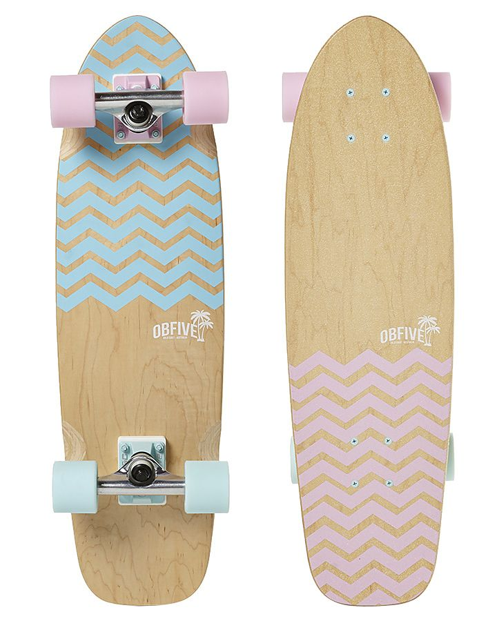 "OBFIVE CRUISER SKATEBOARD 28"""" - CHEVRON                                                                                                                                                                                 More"