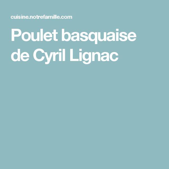Poulet basquaise de Cyril Lignac