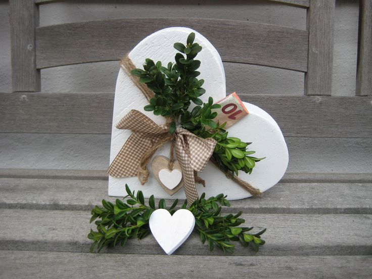 GELD GESCHENKIDEE Hochzeit: Landhaus Vintage schäbiges Herz, Geburtstag, Silberhochzeit, einziehen, Geschenkidee, Hochzeit Tischdekoration, Bestätigung   – zum Verschenken