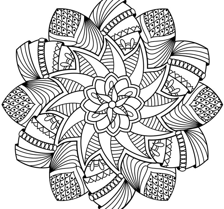 Advanced Mandala Coloring Pages Coloring Pages Projects ...