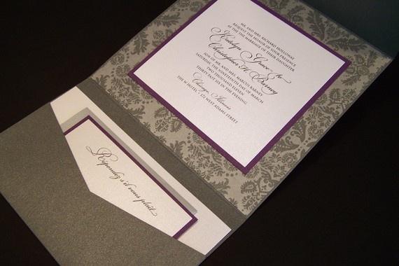 PURCHASE SAMPLE Luxury pocketfolder wedding by graciouslyaccepts, $10.00