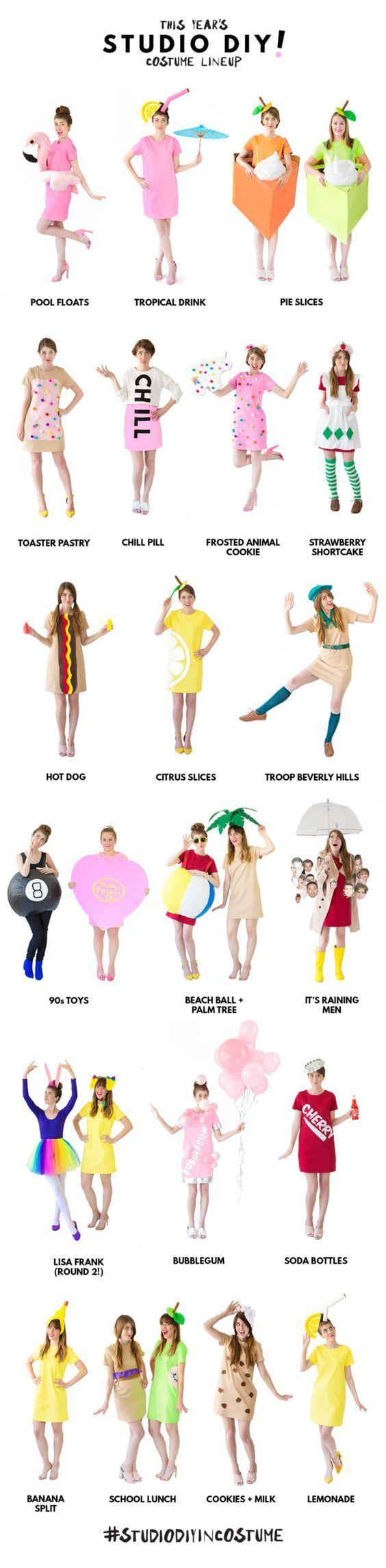 Die Getränke finde ich relativ witzig: Kleid + Strohhalm aus dem Kopf  Our 2016 DIY Costume Lineup! | studiodiy.com