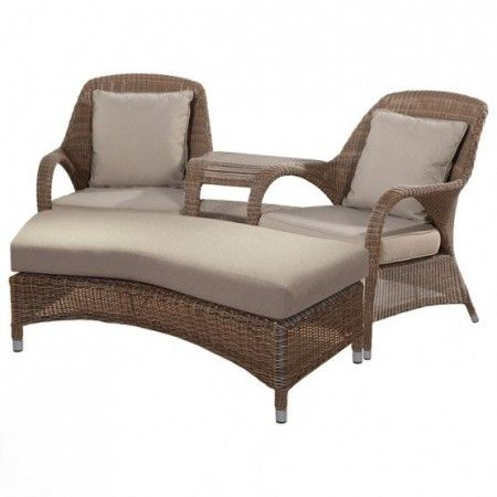 4 seasons outdoor sussex love seat with footstool polyloom taupe wwwrattanfurnitureuk