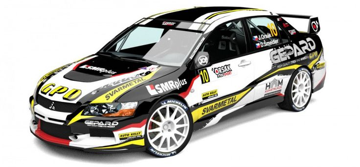 Orsák Rally Sport - J. Orsák (Mitsubishi Lancer Evo IX) - new design for 2013, first seen at Janner Rally 2013.