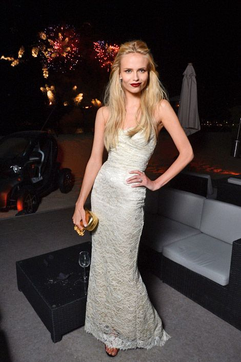 Natasha Poly in Dolce & Gabbana at the L'Oreal Paris 15th Anniversary dinner.