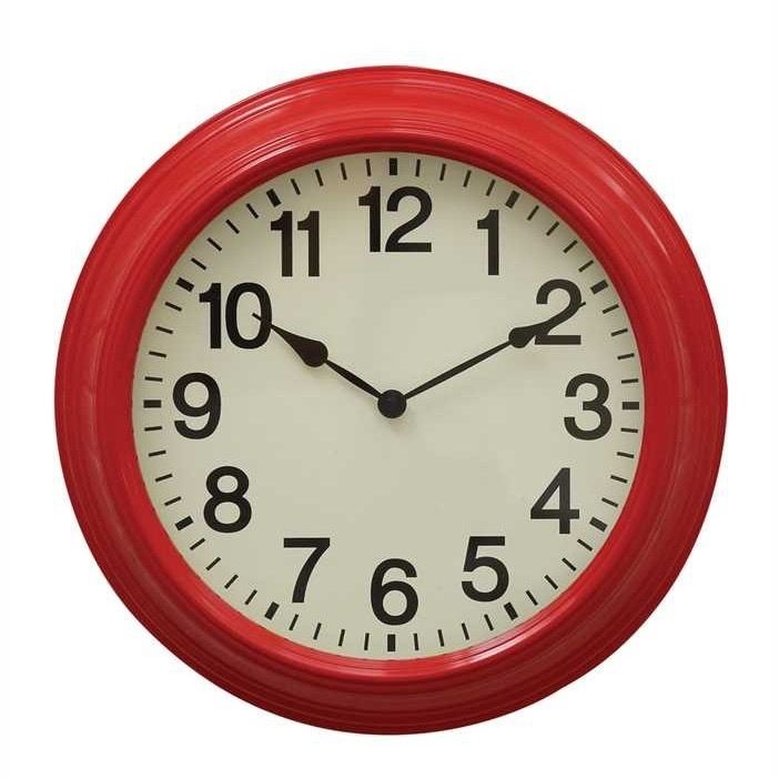 Vintage Inspired Red Wall Clock - Marmalade Mercantile