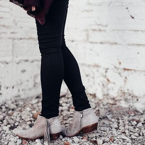 566193f5264617 Sam Edelman  Paige  Fringed Ankle Bootie (Women)
