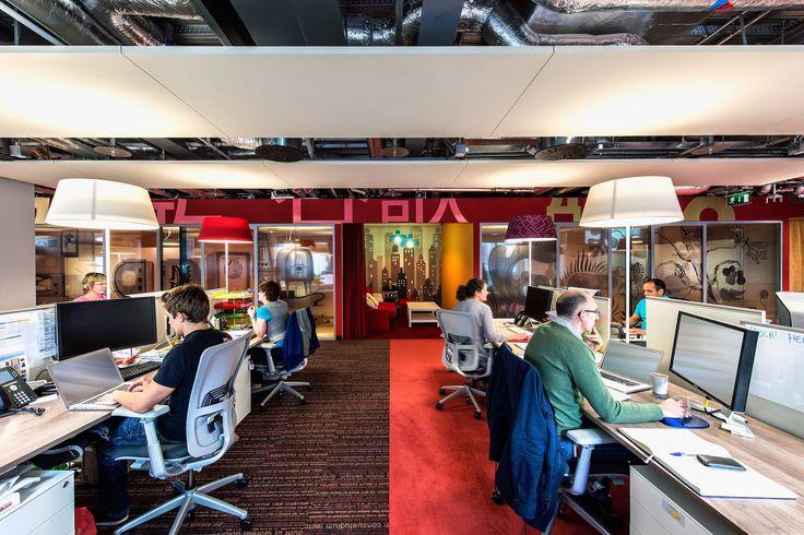 Google Campus Dublin | Google Docks - Office Space - Floor Identity: Search #GoogleDublin, #Office, #WallGraphics