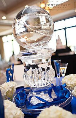 basketball wedding reception ice sculpture centerpiece