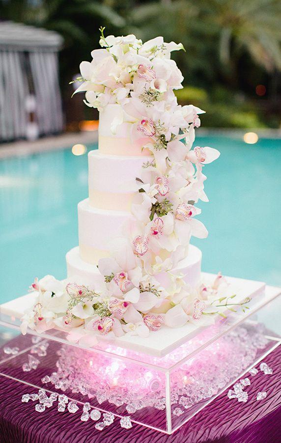 orchid wedding cake on pinterest orchid cake fondant wedding cakes