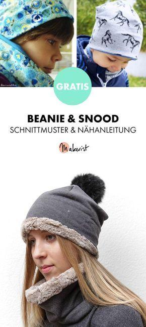 Gratis Anleitung Beanie Und Snood Einfach Nähen Schnittmuster Und