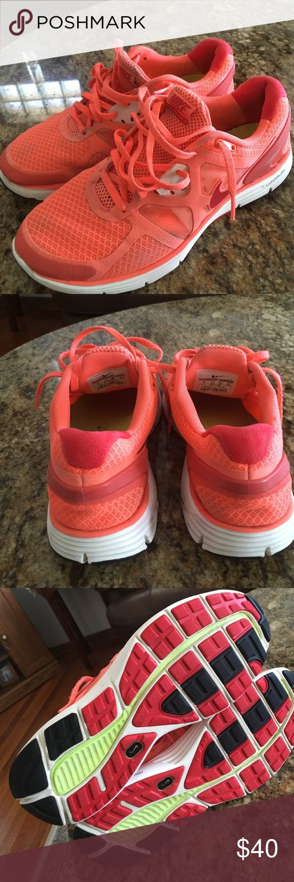 Ike lunar glide 3 cute running shoes That shoes was used but still in good condition Nike Shoes Athletic Shoes