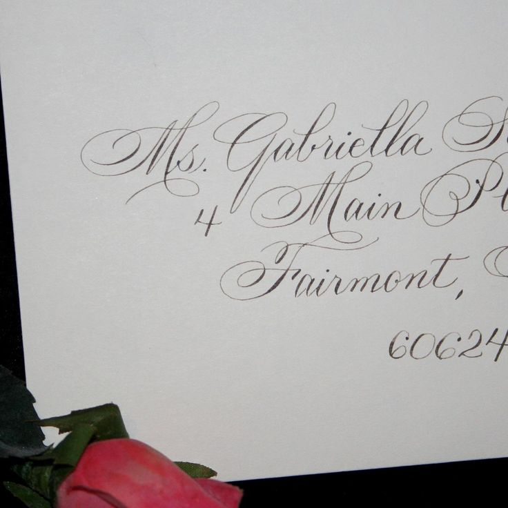 Calligraphy Wedding Envelope Addressing by Hand - Bickham Script