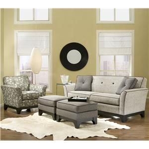 Smith Brothers 381 Contemporary Sofa With Tufted Seat Back   Miller  Brothers Furniture   Sofa West