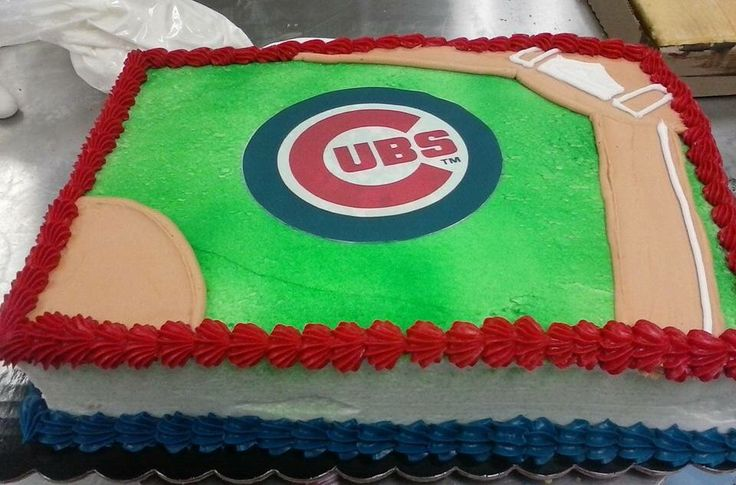 Chicago Cubs cake.