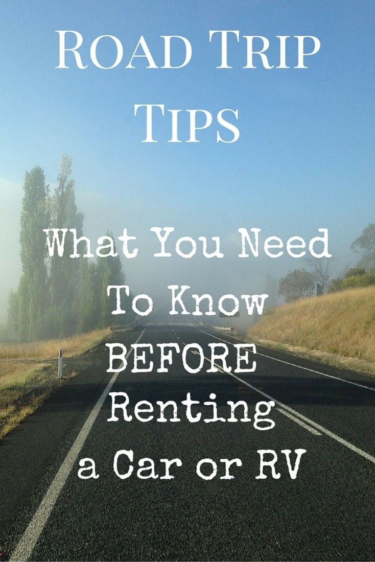 Travel tips time, and what you need to know before renting a car or RV for a road trip. If you usually grab the keys and just skim the rental agreement before you take a rental car out, there are some things in here that could surprise you.