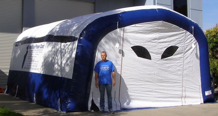 sandblasting booth - industrial inflatable shelter